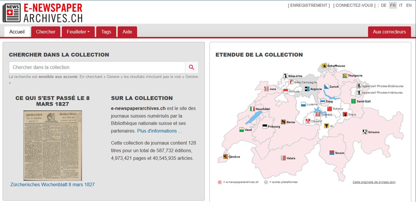 e-newspaperarchives-ch, la plate-forme de la Bibliothèque nationale suisse qui hébergera la presse numérisée genevoise dès 2020