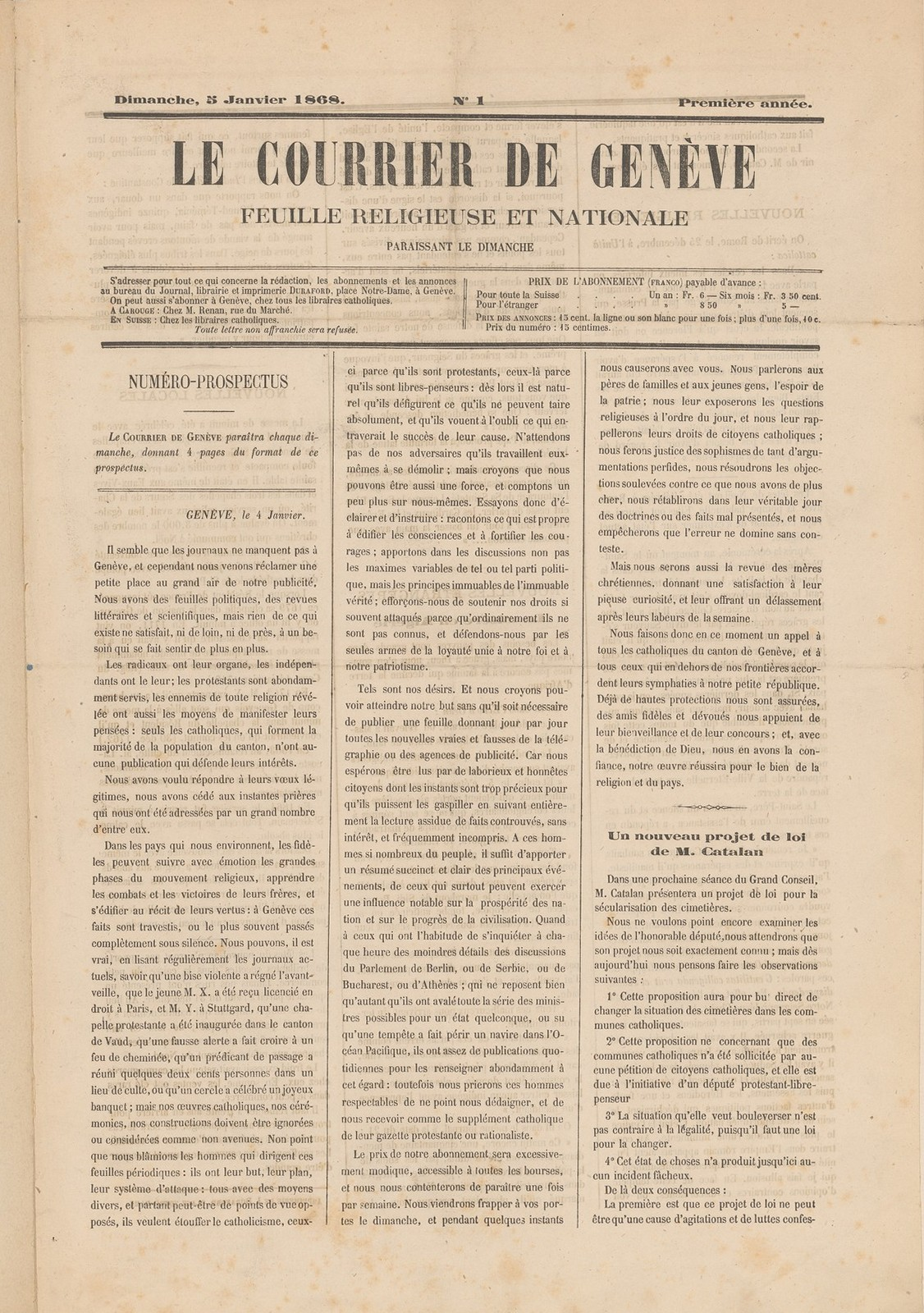 Le Courrier, 05.01.1868