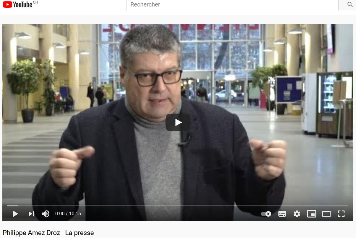 interview Philippe René Amez-Droz 10'15'' youtube